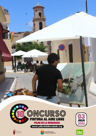 Pilar de la Horadada, evento cultural: Inscripción al X Concurso de Pintura al Aire Libre, con la técnica libre y la temática de cualquier paisaje del término municipal, organizado por la Concejalía de Cultura