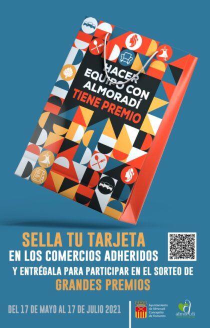 Almoradí, evento: Campaña 'Hacer equipo con Almoradí tiene premio' para la compra en comercios con entrega de tarjeta para participar en sorteo de grandes premios, organizada por la Concejalía de Comercio