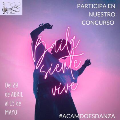 Orihuela, evento 'on line': Concurso de vídeos de baile en redes sociales, organizado por ACAMDO (Asociación Cultural de Amigos de la Música y Danza de Orihuela)
