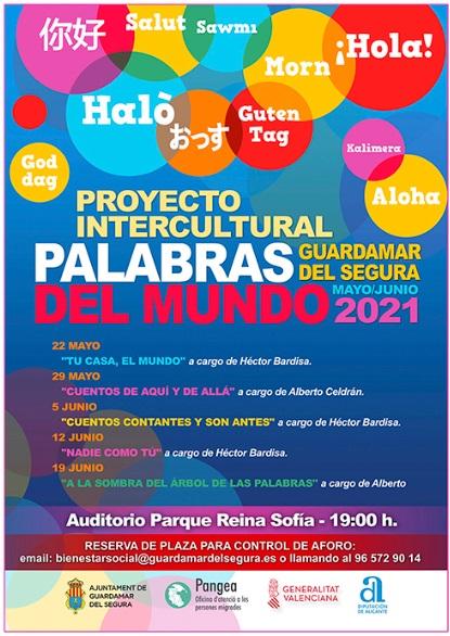 Guardamar del Segura, evento cultural: Reservas para las sesiones de cuentacuentos infantiles, dentro del Proyecto Intercultural 'Palabras del mundo 2021' organizado por el Ayuntamiento