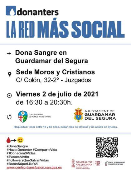 Guardamar del Segura, evento: Donación de sangre, organizada por el Centro de Transfusiones de la Comunidad Valenciana