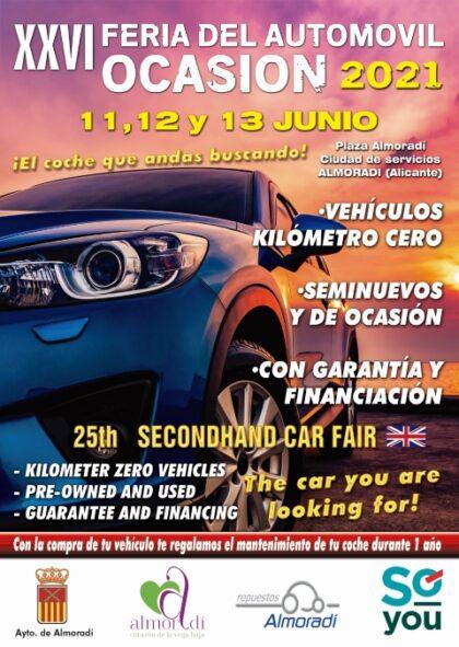 Almoradí, evento: Inauguración de la XXVI Feria del Automóvil de Ocasión con ocho concesionarios y más de 400 vehículos, organizada por la Concejalía de Comercio