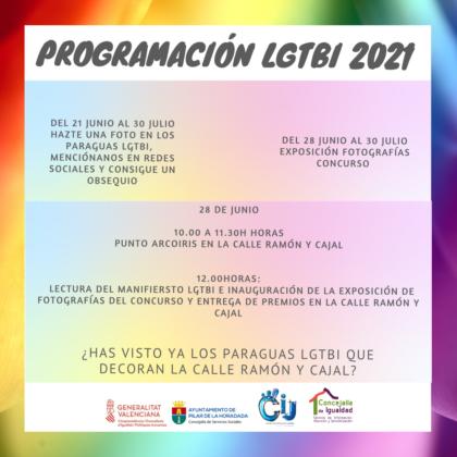 Pilar de la Horadada, evento: Exposición de instantáneas del concurso de fotografías de temática LGTBI 'Simplemente...¡Ama!', dentro de la programación de LGTBI 2021 organizada por las concejalías de Servicios Sociales y de Igualdad