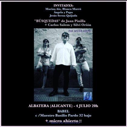 Albatera, evento cultural: Reservas para el recital de poesía con los invitados Juan Pinilla, Carlos Salem y Silvi Orión, y con otros poetas locales, organizada por la cafetería 'Babel Fusión Albatera'