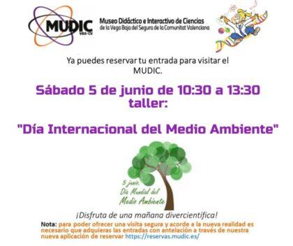 Desamparados de Orihuela, evento: Reservas para los talleres para celebrar el Día Mundial del Medio Ambiente y el titulado 'Del boceto en el papel a la pantalla de cine', por el cineasta Paco Sáez, organizados por el Museo de Ciencias MUDIC de la Universidad Miguel Hernández (UMH)