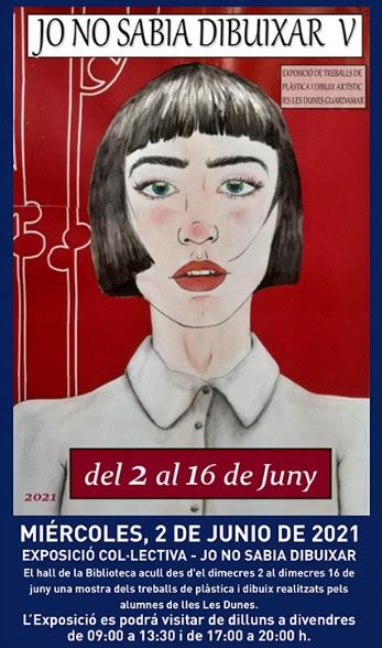 Guardamar del Segura, evento cultural: Exposición colectiva 'Yo no sabía dibujar V', por los alumnos del IES Les dunes, organizada por la Biblioteca Pública Municipal