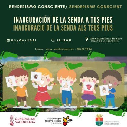 Pinar de Campoverde de Pilar de la Horadada, evento: Inscripción a la inauguración del nuevo recorrido 'La senda a tus pies' en la ruta 'Senderismo consciente', organizada por el 'Paisaje Protegido de Sierra Escalona' de la Comunitat Valenciana