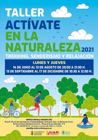 Guardamar del segura, evento: Inscripción al taller 'Actívate en la naturaleza', con trekking, senderismo y relajación 2021, organizado por Punto de Información y Asesoramiento a la Mujer (P.I.A.M.)