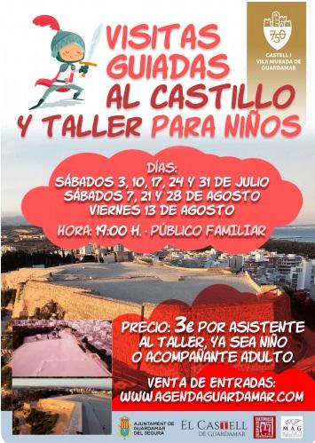 Guardamar del Segura, evento: Inscripciones a las visitas guiadas al Castillo y taller para niños, organizadas por el Ayuntamiento
