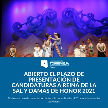 Torrevieja, evento: Inscripción para la elección de Reina de la Sal y Damas de Honor en Torrevieja