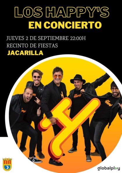 Jacarilla, evento cultural: Concierto del grupo 'Los Happys', dentro de los actos de las fiestas patronales en honor a la Virgen de Belén