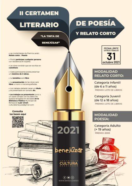 Benejúzar, evento cultural: Entrega de trabajos para el II Certamen Literario de Poesía y Relato Corto 'La tinta de Benejúzar', organizado por la Concejalía de Cultura