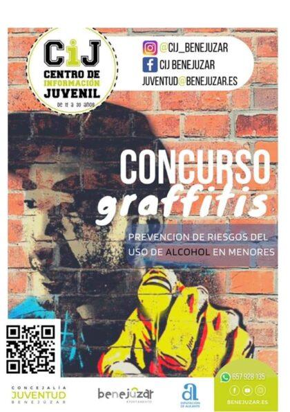 Benejúzar, evento: Entrega de trabajos al concurso de graffitis para jóvenes de 12 a 30 años, organizado por el Centro de Información Juvenil