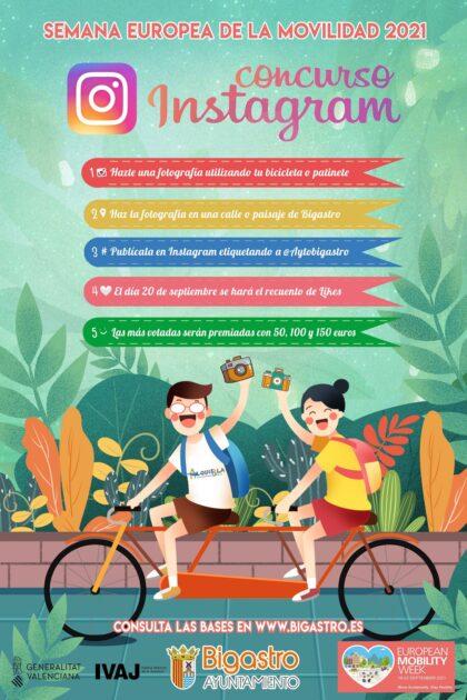 Bigastro, evento: Concurso con el sorteo 'Moverte en bici tiene premio' para optar a ganar tres tarjetas de regalo de 100 euros cada uno, dentro de los actos de la 'Semana Europea de la Movilidad 2021' organizados por el Ayuntamiento