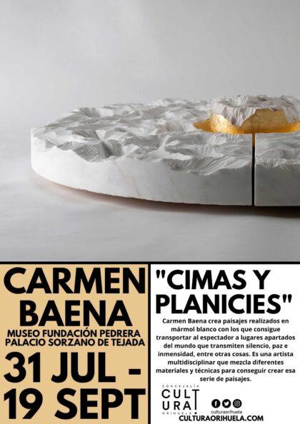 Orihuela, evento cultural: Exposición 'Cimas y planicies', de la artista Carmen Baena, organizada por la Concejalía de Cultura