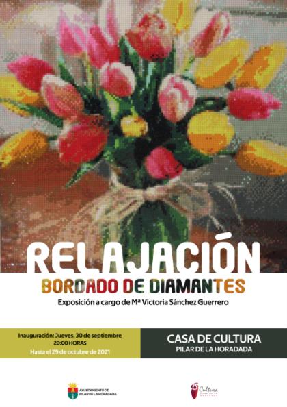 Pilar de la Horadada, evento cultural: Exposición de bordado de diamantes 'Relajación', organizada por la Concejalía de Cultura