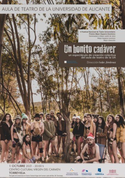 Torrevieja, evento cultural: Representación de la obra de teatro 'Un bonito cadáver', por el Aula de Teatro de la Universidad de Alicante (UA), dirigido por Iván Jiménez, organizada por la sede universitaria de la UA
