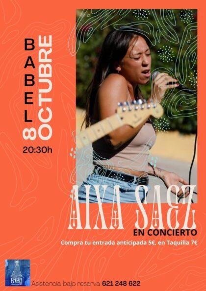 Albatera, evento cultural: Venta de entradas para el concierto de la cantante Aixa Sáez, organizado por la cafetería 'Babel Fusión Albatera'